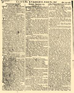 London Lloyd Evening Post, January 25, 1764, Page 4