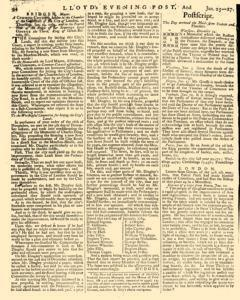 London Lloyd Evening Post, January 25, 1764, Page 6