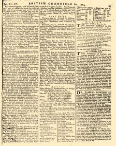 London Lloyd Evening Post, January 25, 1764, Page 7