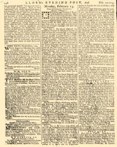 London Lloyd Evening Post, February 10, 1764, Page 4