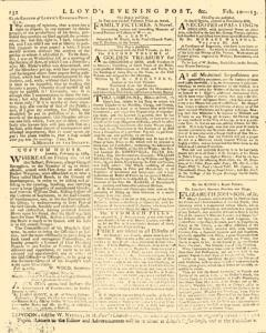 London Lloyd Evening Post, February 10, 1764, Page 8