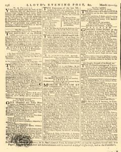 London Lloyd Evening Post, March 12, 1764, Page 8
