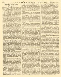 London Lloyd Evening Post, March 16, 1764, Page 4