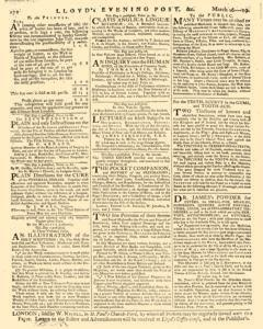 London Lloyd Evening Post, March 16, 1764, Page 8