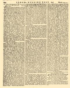 London Lloyd Evening Post, March 19, 1764, Page 2