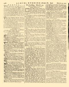 London Lloyd Evening Post, March 19, 1764, Page 4