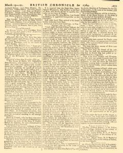 London Lloyd Evening Post, March 19, 1764, Page 5
