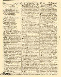 London Lloyd Evening Post, March 19, 1764, Page 8