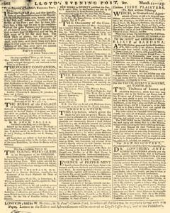 London Lloyd Evening Post, March 21, 1764, p. 8
