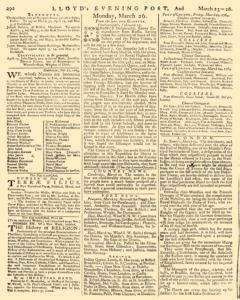 London Lloyd Evening Post, March 23, 1764, Page 4