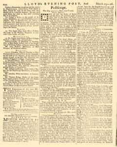 London Lloyd Evening Post, March 23, 1764, Page 6