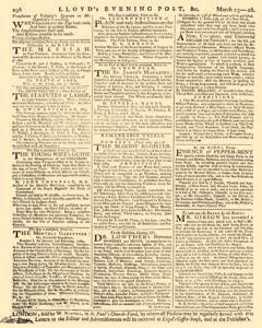 London Lloyd Evening Post, March 23, 1764, Page 8