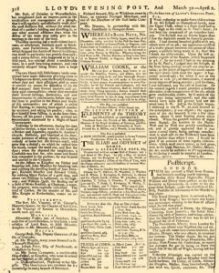 London Lloyd Evening Post, March 30, 1764, Page 6