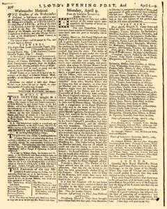 London Lloyd Evening Post, April 06, 1764, Page 4