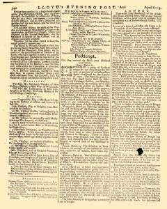 London Lloyd Evening Post, April 06, 1764, Page 6