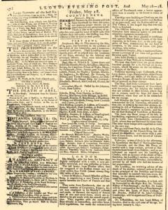 London Lloyd Evening Post, May 16, 1764, Page 4
