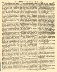 London Lloyd Evening Post, May 16, 1764, Page 5
