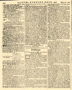 London Lloyd Evening Post, May 16, 1764, Page 6