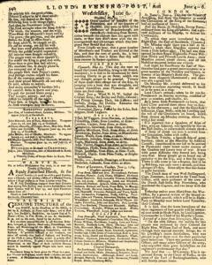 London Lloyd Evening Post, June 04, 1764, Page 4