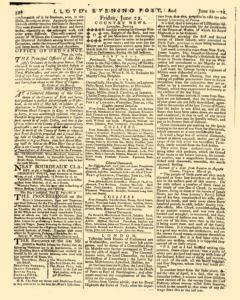 London Lloyd Evening Post, June 20, 1764, Page 4