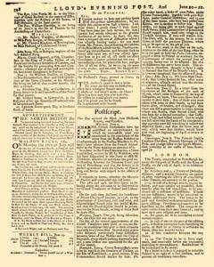 London Lloyd Evening Post, June 20, 1764, Page 6