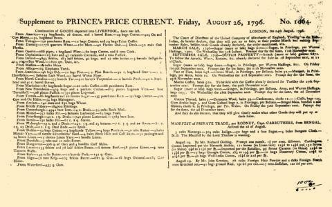 London Prince London Price Current, August 26, 1796, Page 5