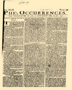 London Pues Occurrences, May 05, 1747, Page 1