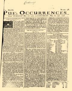 London Pues Occurrences, May 19, 1747, Page 1