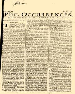 London Pues Occurrences, May 26, 1747, Page 1