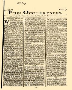 London Pues Occurrences, June 23, 1747, Page 1