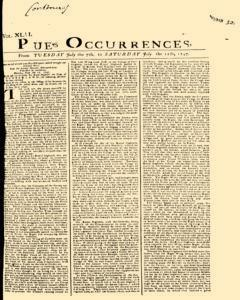 London Pues Occurrences, July 07, 1747, Page 1