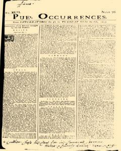 London Pues Occurrences, October 03, 1747, Page 1