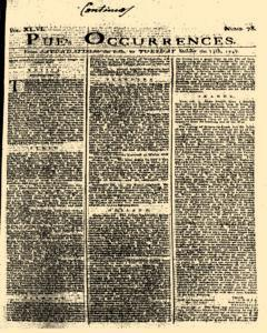 London Pues Occurrences, October 10, 1747, Page 1