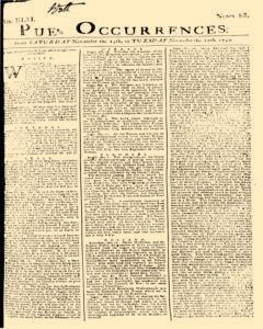 London Pues Occurrences, November 14, 1747, Page 1