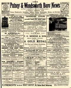 London Putney And Wandsworth Boro News, June 11, 1892, Page 1