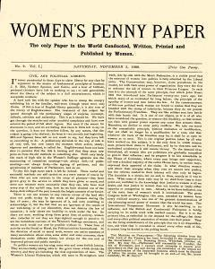 London Women Penny Paper, November 03, 1888, Page 1