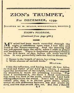 London Zion Trumpet, December 01, 1799, Page 1