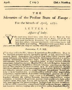 Memoirs Of The Present State Of Europe