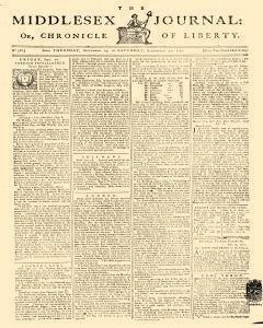 Middlesex Journal, September 19, 1771, Page 1