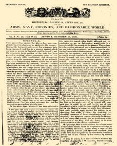 Military Register, October 15, 1820, Page 1