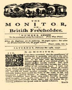 Monitor Or British Freeholder, February 19, 1757, Page 1