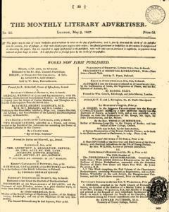 Monthly Literary Advertiser, May 09, 1807, Page 1