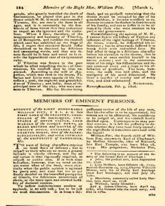 Monthly Magazine, March 01, 1806, Page 34