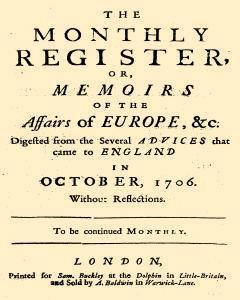 Monthly Register, October 01, 1806, Page 1