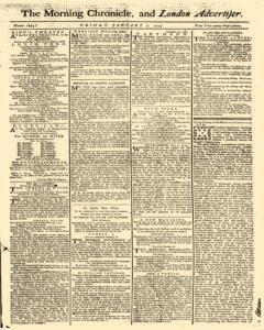 Morning Chronicle And London Advertiser, January 07, 1774, Page 1