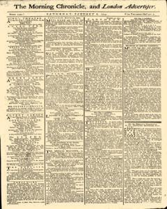 Morning Chronicle And London Advertiser, January 08, 1774, Page 1