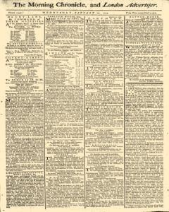 Morning Chronicle And London Advertiser, January 12, 1774, Page 1