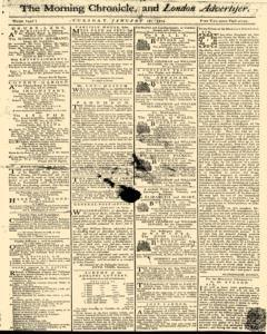 Morning Chronicle and London Advertiser, January 18, 1774, Page 1