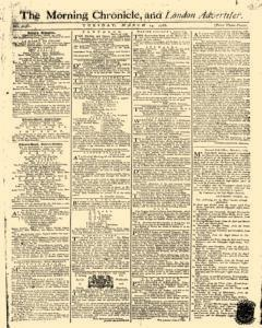 Morning Chronicle And London Advertiser, March 14, 1786, Page 1