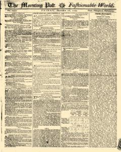 Morning Post And Fashionable World, December 18, 1795, Page 1